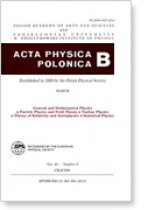 Acta Physica Polonica B (Jagiellonian University, Polish Academy of Arts and Sciences)