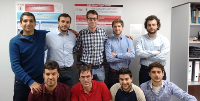Fernando Sordo (bottom row, second from left) and the ESS-Bilbao target systems team. Photo: ESS-Bilbao