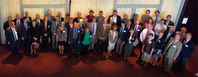 Attendees of the July 2-3 constituting ERIC Council meeting in Lund. (Click on the Photo to see a larger version!) Photo: ESS