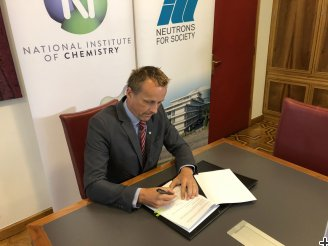 Prof Gregor Anderluh, Director of the National Institute of Chemistry, during the signing ceremony.