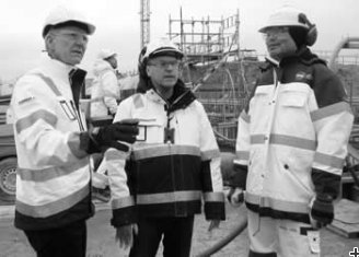 Members of the construction management team