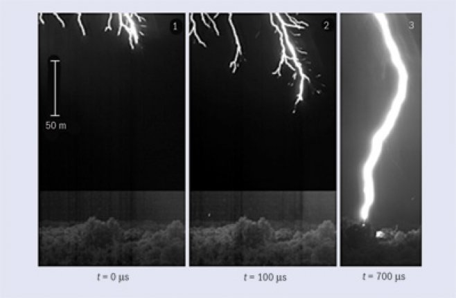 Follow the leader: The evolution of a lightning strike