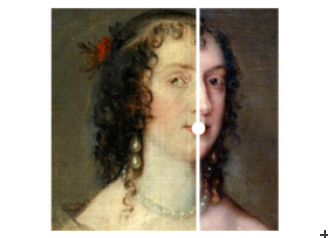 Olivia Boteler Porter before and after restoration. Slide to compare before / after versions.