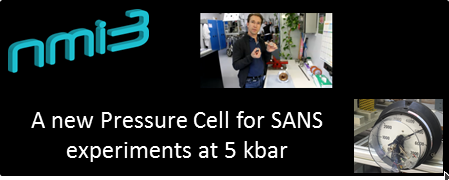 A new pressure cell for SANS experiments up to 500 MPa